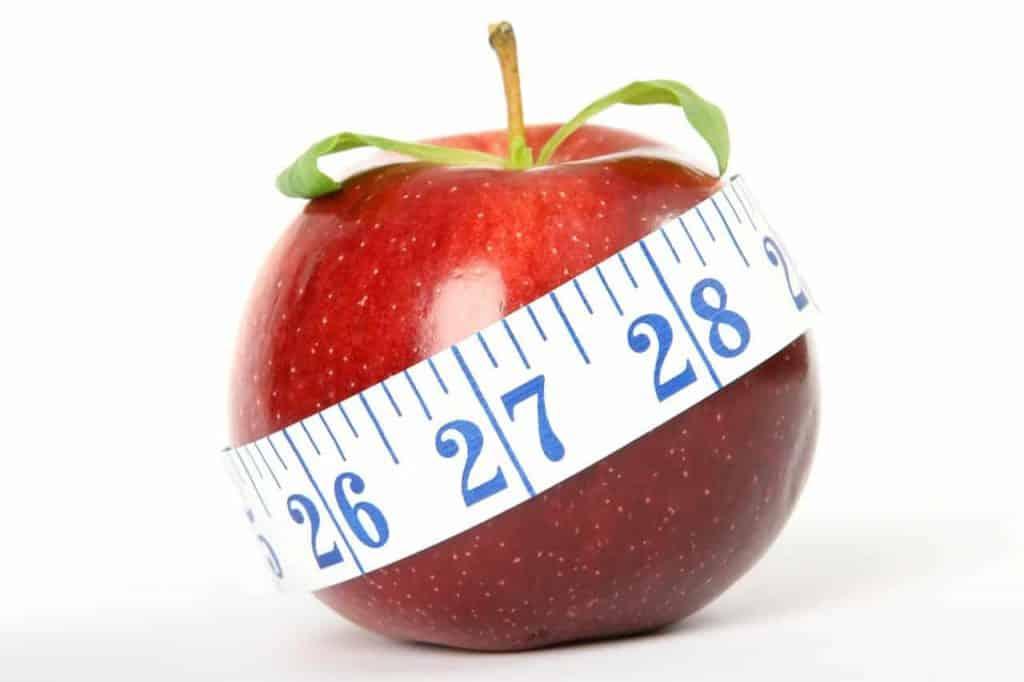 maçã e medida