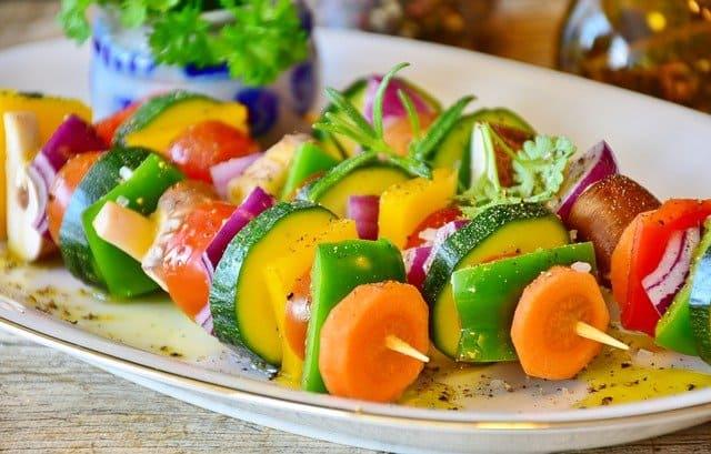 espetos de legumes
