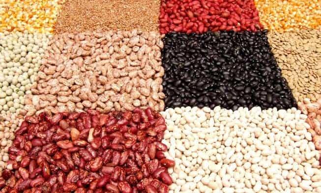 ervilhas, grãos de cereais, sementes