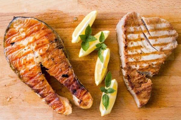 A dieta do homem peixe e carne