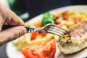 hora do almoço dietético