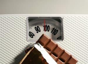 peso e chocolate