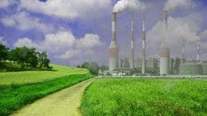 fábricas, toxinas no meio ambiente