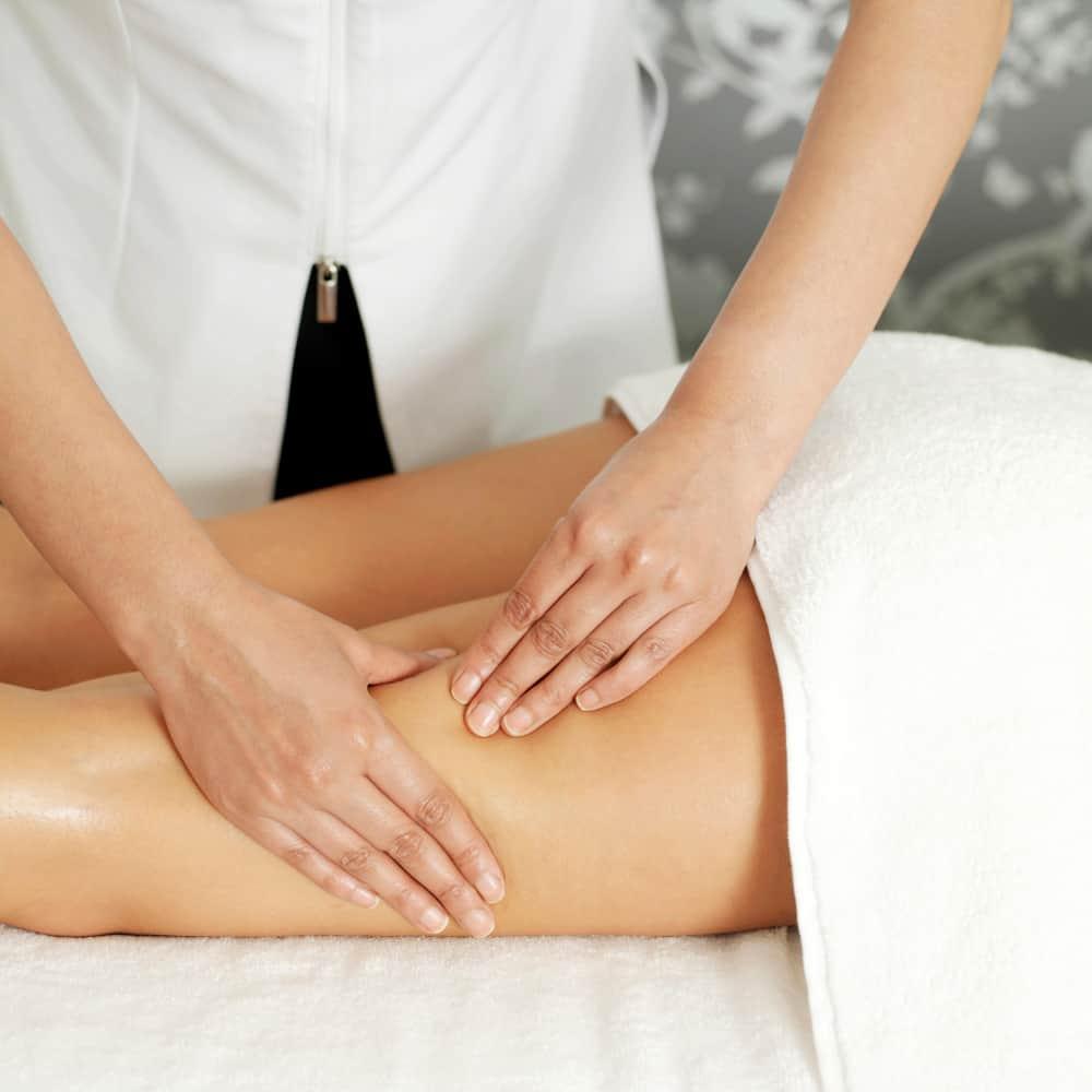 massagem das coxas