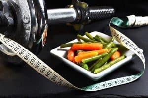 Dumbbells, medida, produtos hortícolas, perda de peso