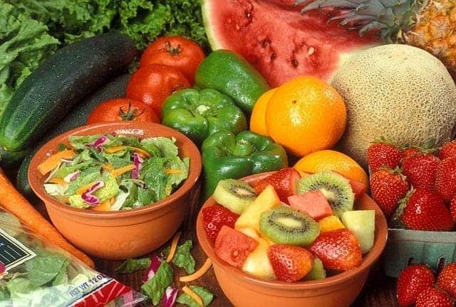 fruta e legumes na dieta