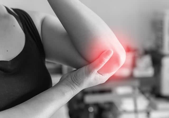 dor na articulação do cotovelo
