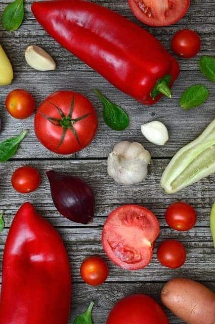 legumes coloridos e de mesa