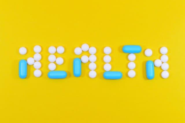 Escrita saudável composta por comprimidos e cápsulas