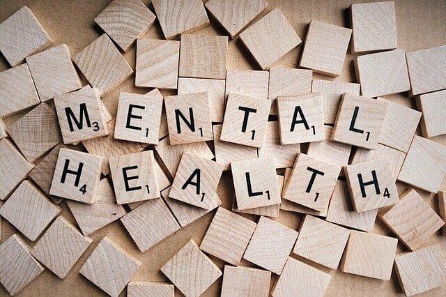 Mental Health Inscrição de rabiscos