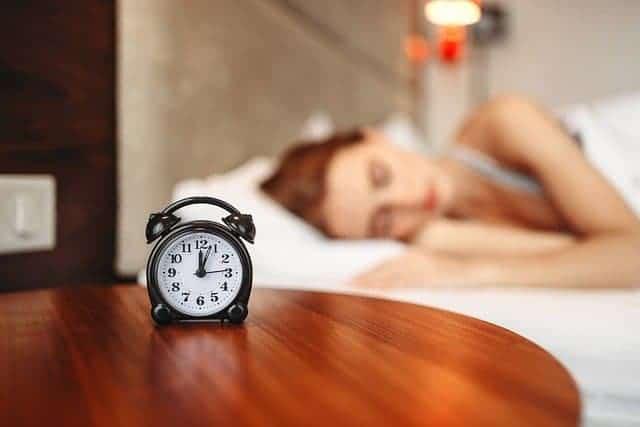 mulher durante o sono